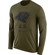 Nike Men's Salute to Service Carolina Panthers Legend Performance Long Sleeve Shirt