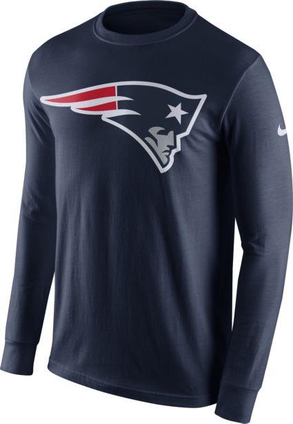 48a94313 Nike Men's New England Patriots Logo Navy Long Sleeve Shirt. noImageFound. 1  / 1