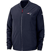 Nike Men's New England Patriots Sideline Shield Navy Bomber Jacket
