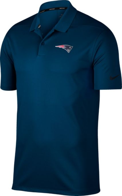 Nike Men's New England Patriots Victory Navy Golf Polo
