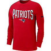 Nike Men's New England Patriots Sideline Property Of Long Sleeve Red Shirt
