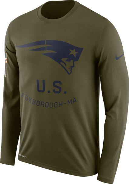 Nike Men s Salute to Service New England Patriots Legend Performance Long  Sleeve Shirt. noImageFound efde5d7d7