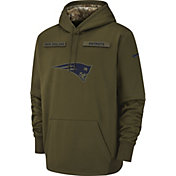 Nike Men's Salute to Service New England Patriots Therma-FIT Performance Hoodie