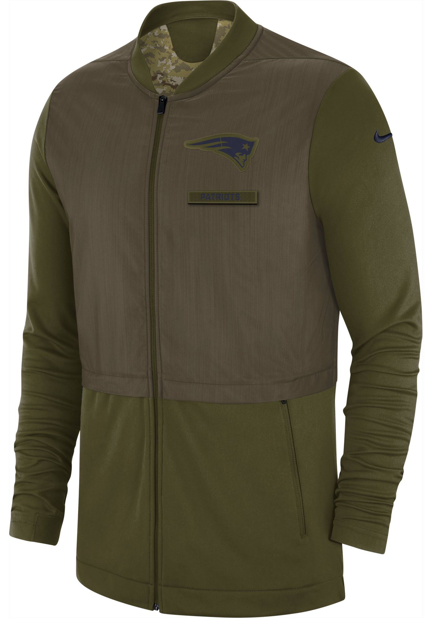 Nike Men's Salute to Service New England Patriots Hybrid Full-Zip Jacket