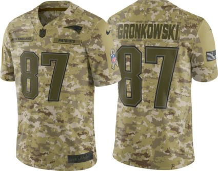 Nike Men s Salute to Service New England Patriots Rob Gronkowski  87  Camouflage Limited Jersey. noImageFound f42d2253f