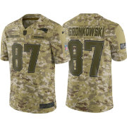 Nike Men's Salute to Service New England Patriots Rob Gronkowski #87 Camouflage Limited Jersey