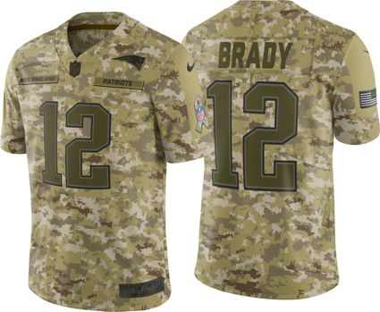 Nike Men s Salute to Service New England Patriots Tom Brady  12 Camouflage  Limited Jersey. noImageFound d1ceaf7f0