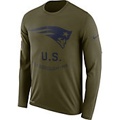 Nike Men's Salute to Service New England Patriots Legend Performance Long Sleeve Shirt