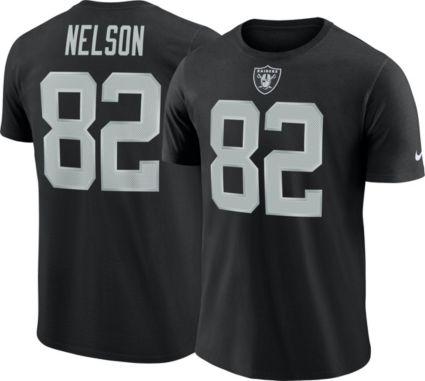 Nike Men s Oakland Raiders Jordy Nelson  82 Pride Logo Black T-Shirt ... 2801b41b9