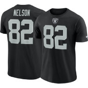 Nike Men's Oakland Raiders Jordy Nelson #82 Pride Logo Black T-Shirt