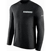 Nike Men's Oakland Raiders Sideline Coach Performance Black Long Sleeve Shirt