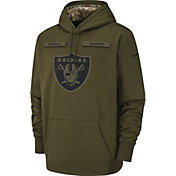 Nike Men's Salute to Service Oakland Raiders Therma-FIT Performance Hoodie