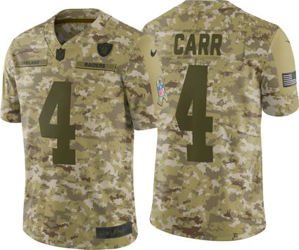 Nike Men s Salute to Service Oakland Raiders Derek Carr  4 Camouflage  Limited Jersey. noImageFound a37bf45c4