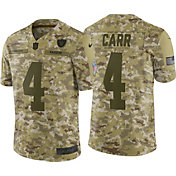 Nike Men's Salute to Service Oakland Raiders Derek Carr #4 Camouflage Limited Jersey