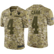 Nike Men s Salute to Service Oakland Raiders Derek Carr  4 Camouflage  Limited Jersey 8cfe85138