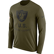 Nike Men's Salute to Service Oakland Raiders Legend Performance Long Sleeve Shirt