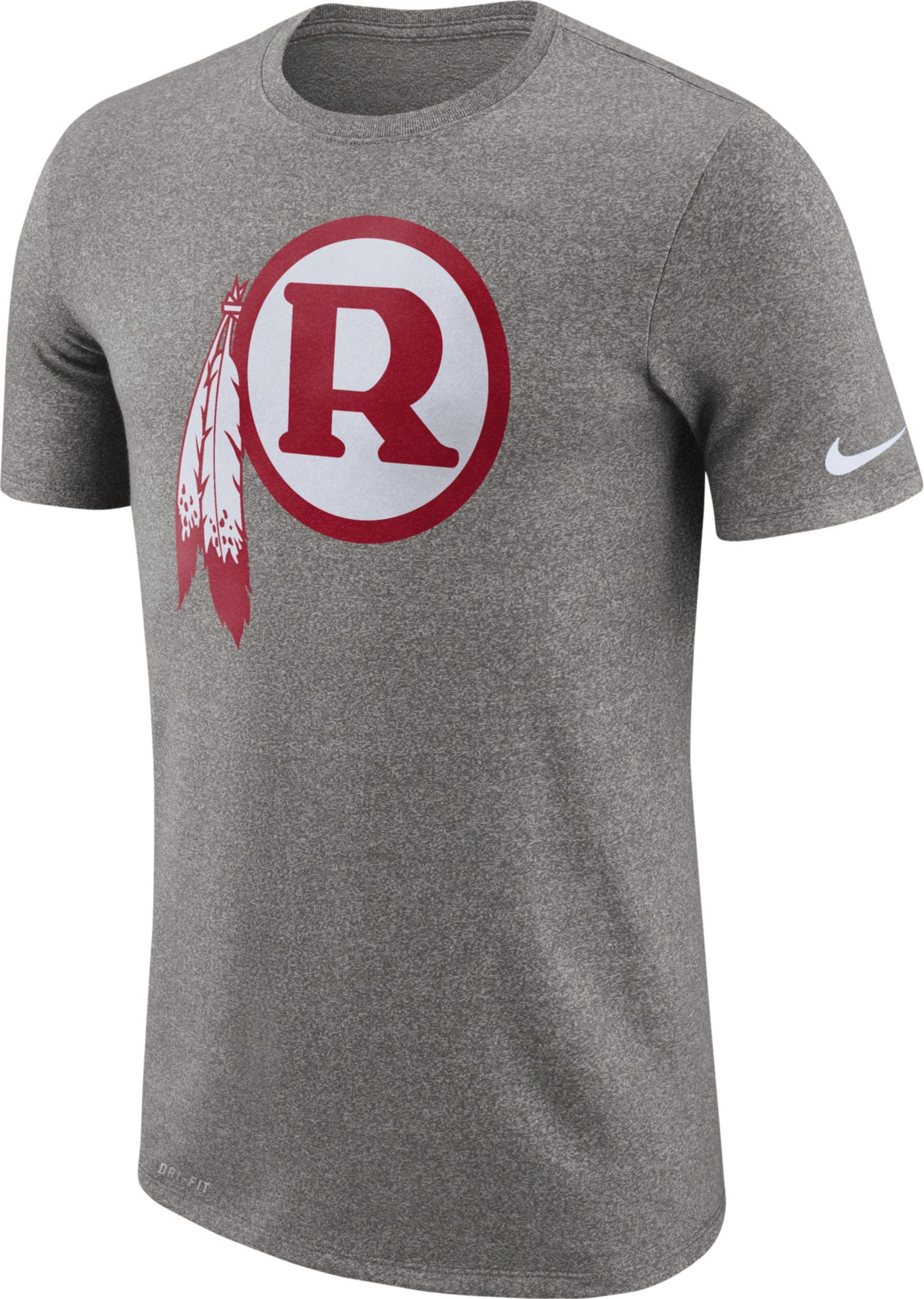 Nike Men's Washington Redskins Marled Historic Performance Grey T-Shirt