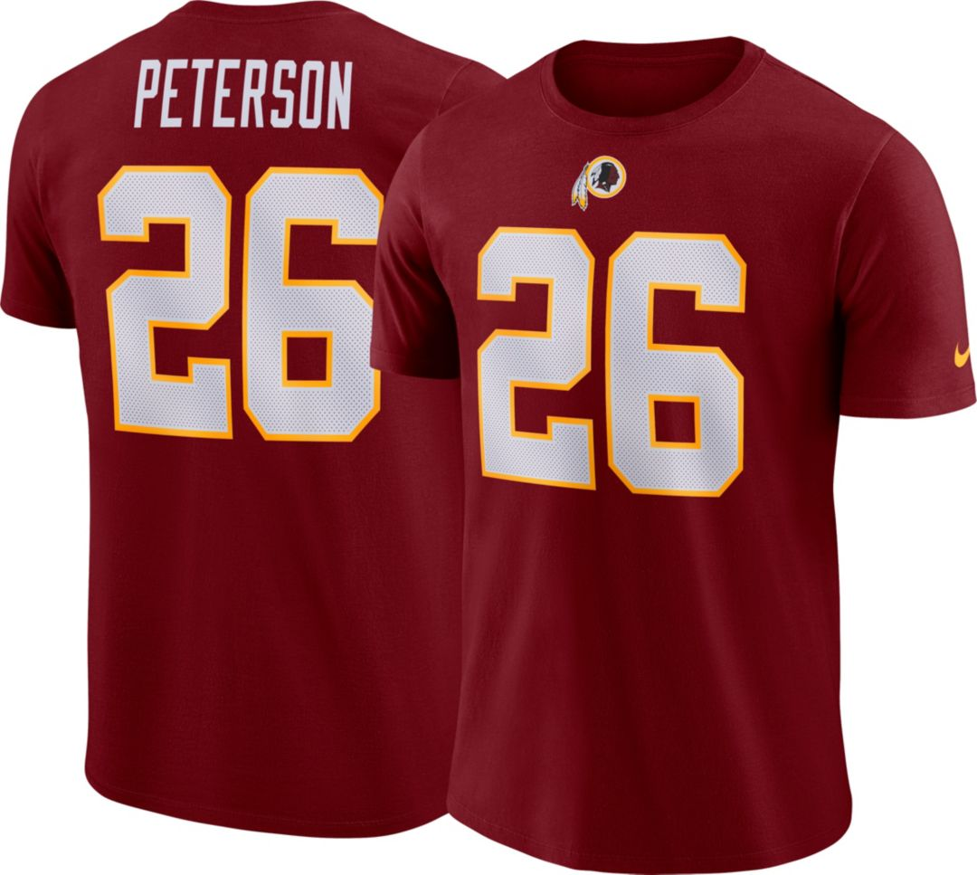 check out 1871c 508dd Nike Men's Washington Redskins Adrian Peterson #26 Pride Logo Red T-Shirt
