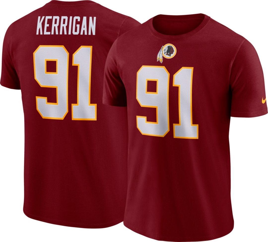 on sale 15e14 979b2 Nike Men's Washington Redskins Ryan Kerrigan #91 Pride Logo Red T-Shirt
