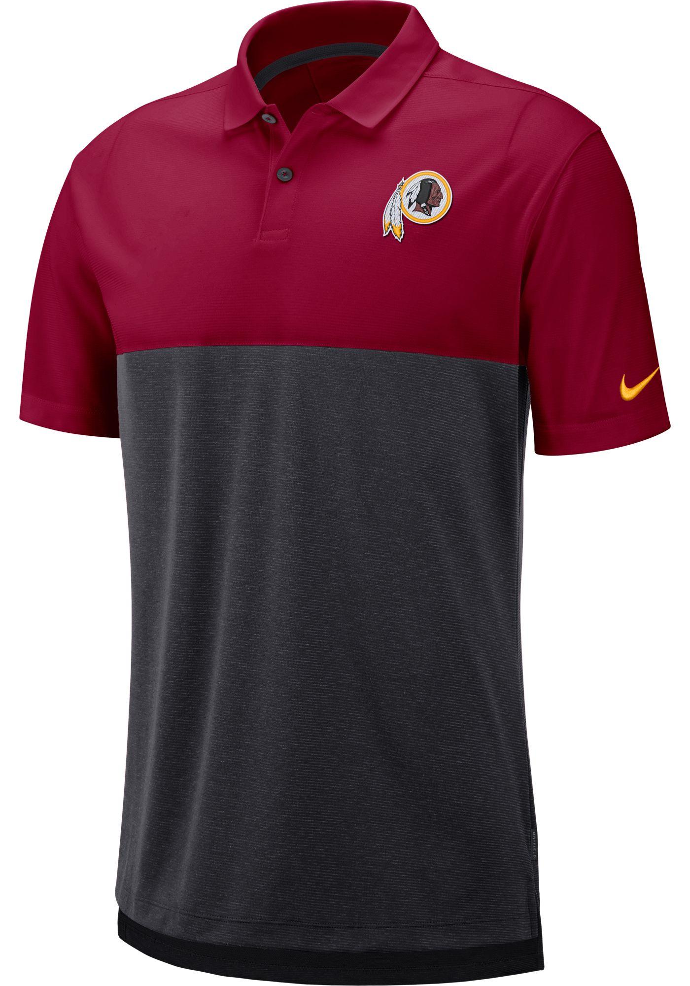 Nike Men's Washington Redskins Sideline Early Season Red Polo