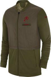 meet 1fbe7 78493 Nike Men's Salute to Service Washington Redskins Hybrid Full-Zip Jacket
