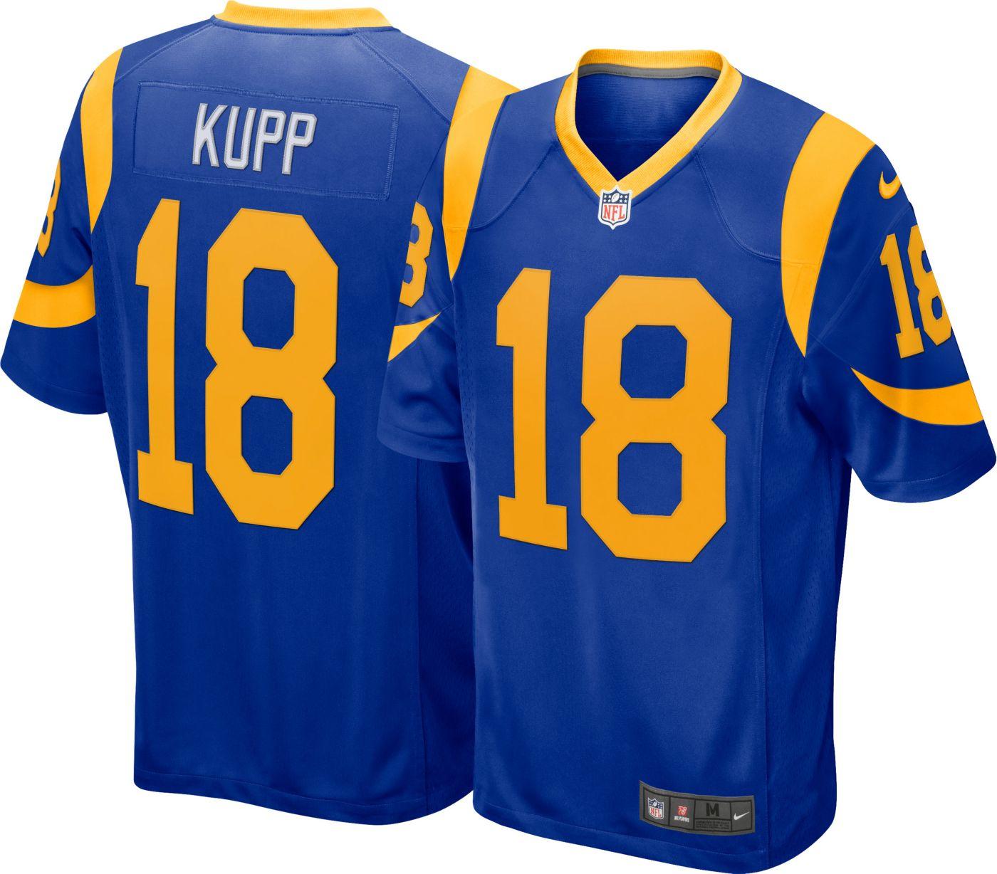 Nike Men's Alternate Game Jersey Los Angeles Rams Cooper Kupp #18
