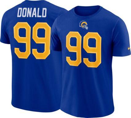 Nike Men s Los Angeles Rams Aaron Donald  99 Pride Logo Royal T-Shirt.  noImageFound 381d49f65