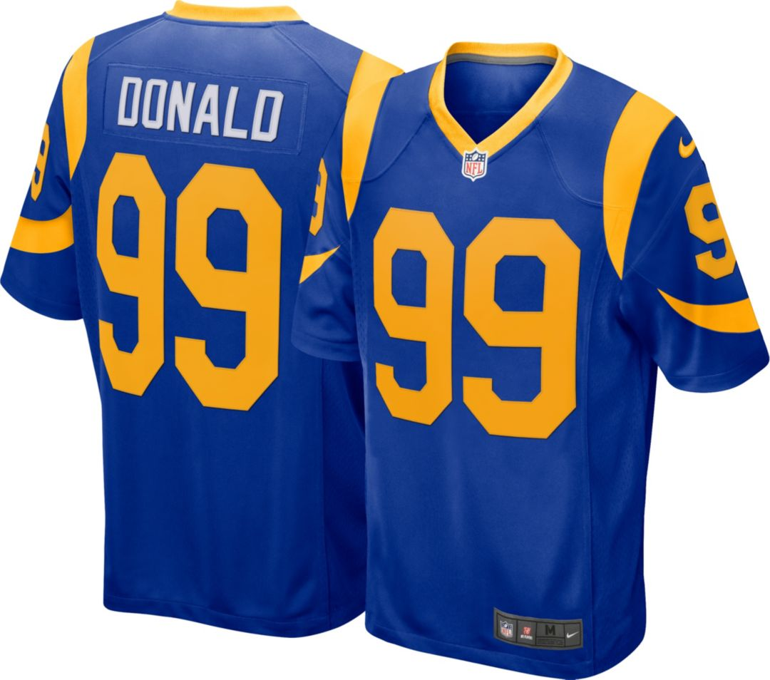 purchase cheap bafff dd55e Nike Men's Alternate Game Jersey Los Angeles Rams Aaron Donald #99