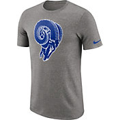 Nike Men's Los Angeles Rams Marled Historic Performance Grey T-Shirt