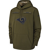 Nike Men's Salute to Service Los Angeles Rams Therma-FIT Performance Hoodie