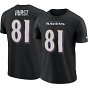 Hayden Hurst #81 Nike Men's Baltimore Ravens Pride Black T-Shirt