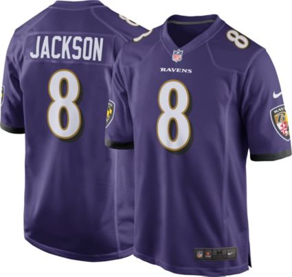 ba6ca1899 Lamar Jackson  8 Nike Men s Baltimore Ravens Home Game Jersey ...
