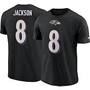 Nike Men's Baltimore Ravens Lamar Jackson #8 Pride Logo Black T-Shirt