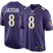 af39d24fd Lamar Jackson  8 Nike Men s Baltimore Ravens Home Game Jersey ...