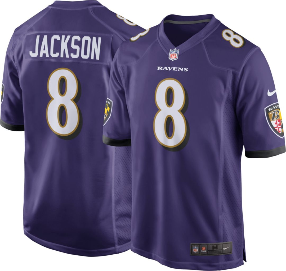 super popular 5fe82 99d93 Lamar Jackson #8 Nike Men's Baltimore Ravens Home Game Jersey
