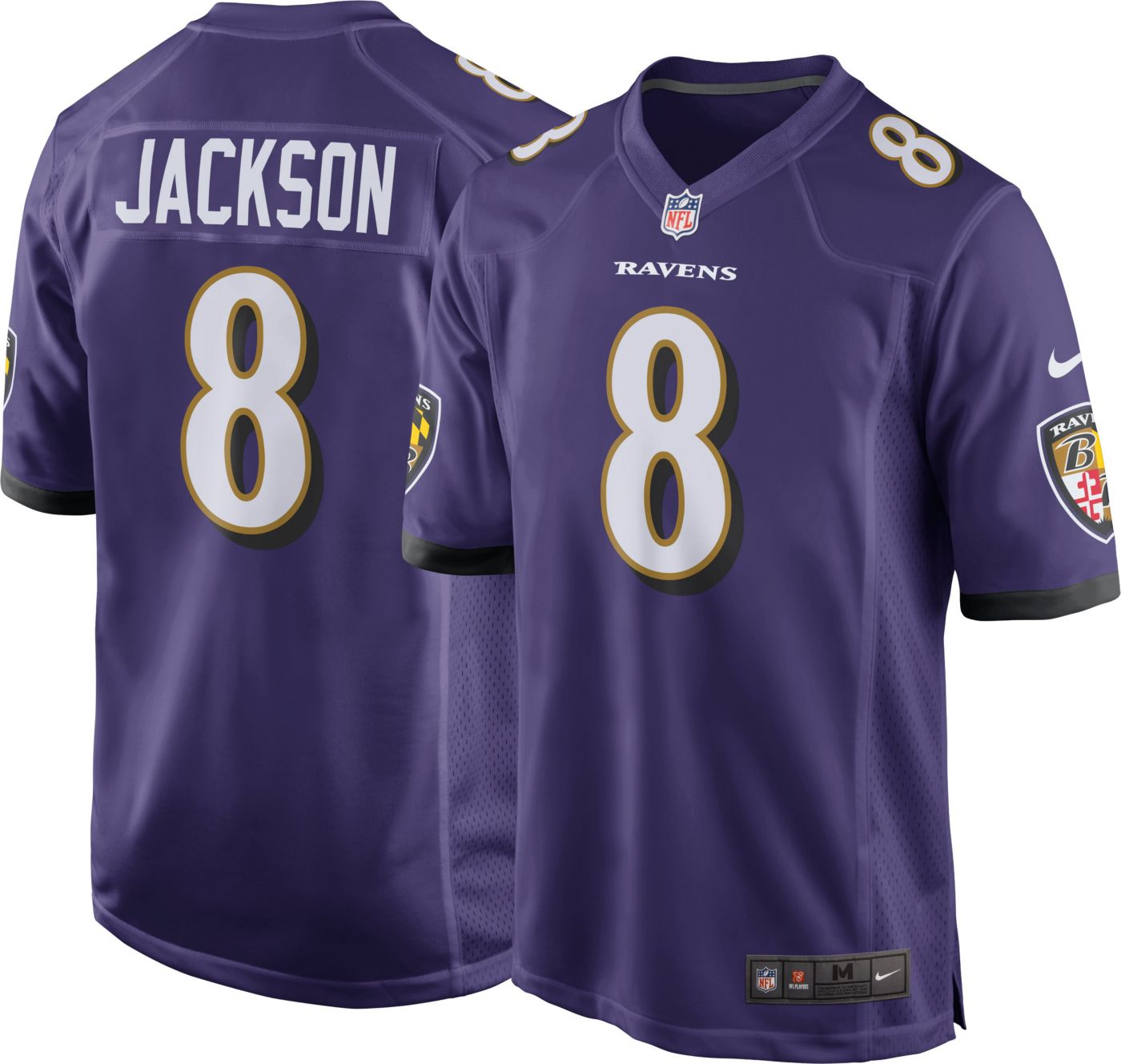 Lamar Jackson #8 Nike Men's Baltimore Ravens Home Game Jersey