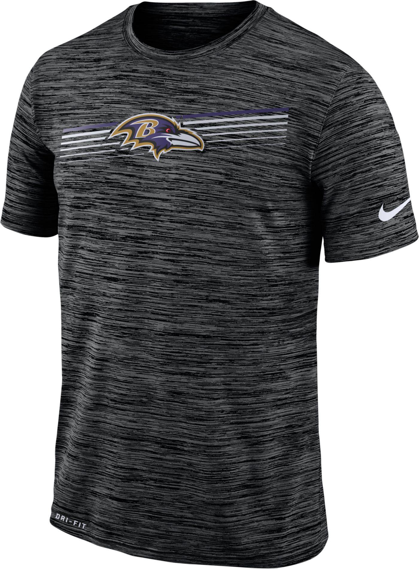 Nike Men's Baltimore Ravens Sideline Legend Velocity Black T-Shirt