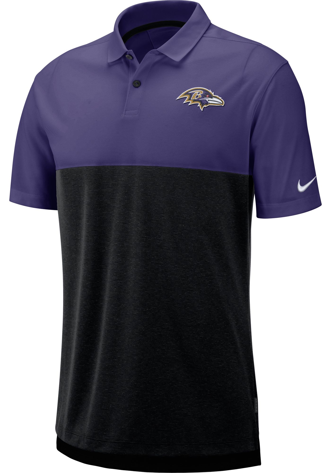 Nike Men's Baltimore Ravens Sideline Early Season Purple Polo