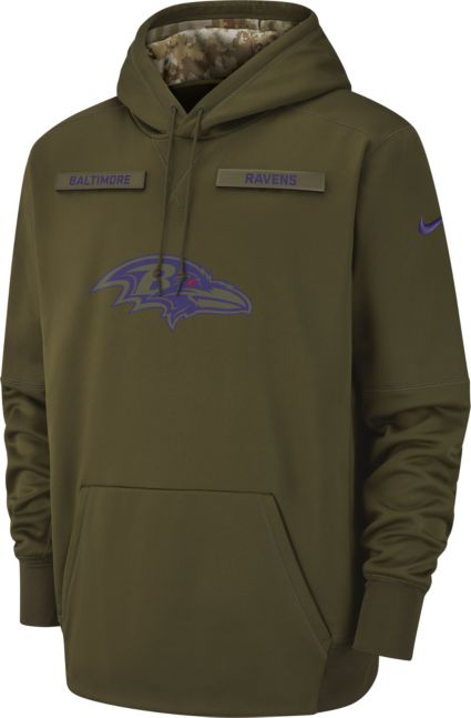Nike Men s Salute to Service Baltimore Ravens Therma-FIT Performance Hoodie.  noImageFound b91f1128a