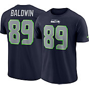 Nike Men's Seattle Seahawks Doug Baldwin #89 Pride Logo Navy T-Shirt