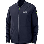 Nike Men's Seattle Seahawks Sideline Shield Navy Bomber Jacket