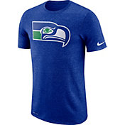 Nike Men's Seattle Seahawks Marled Historic Performance Royal T-Shirt
