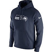 Nike Men's Seattle Seahawks Logo Club Navy Hoodie