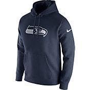 Nike Men's Seattle Seahawks Logo Club Navy Hoodie