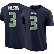 Nike Men's Seattle Seahawks Russell Wilson #3 Pride Logo Navy T-Shirt