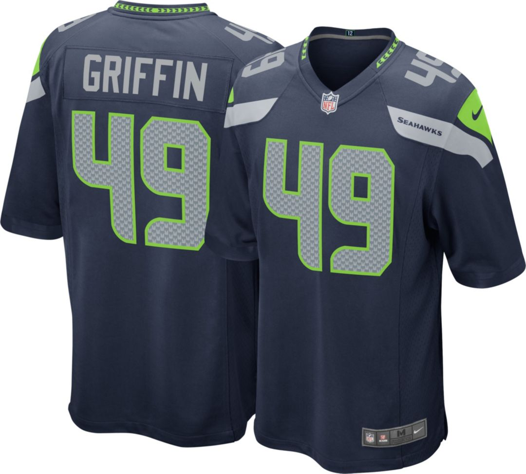 buy online a2ce9 c973c Shaquem Griffin #49 Nike Men's Seattle Seahawks Home Game Jersey