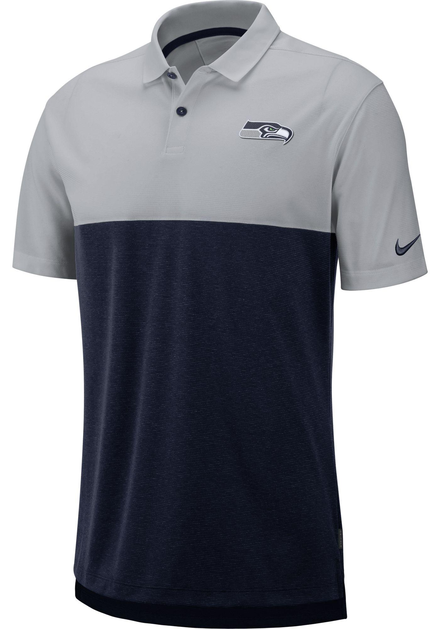 Nike Men's Seattle Seahawks Sideline Early Season Grey Polo