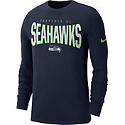 Nike Men's Seattle Seahawks Sideline Property Of Long Sleeve Navy Shirt