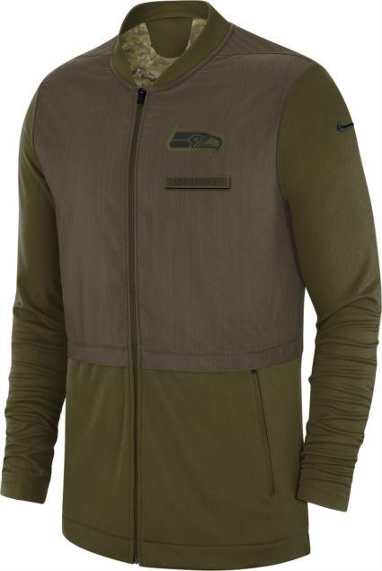 3ccc78cc4 Nike Men s Salute to Service Seattle Seahawks Hybrid Full-Zip Jacket ...