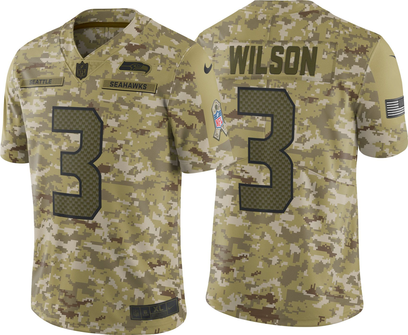 new styles 5bd3a c7a3f Nike Men's Salute to Service Seattle Seahawks Russell Wilson ...